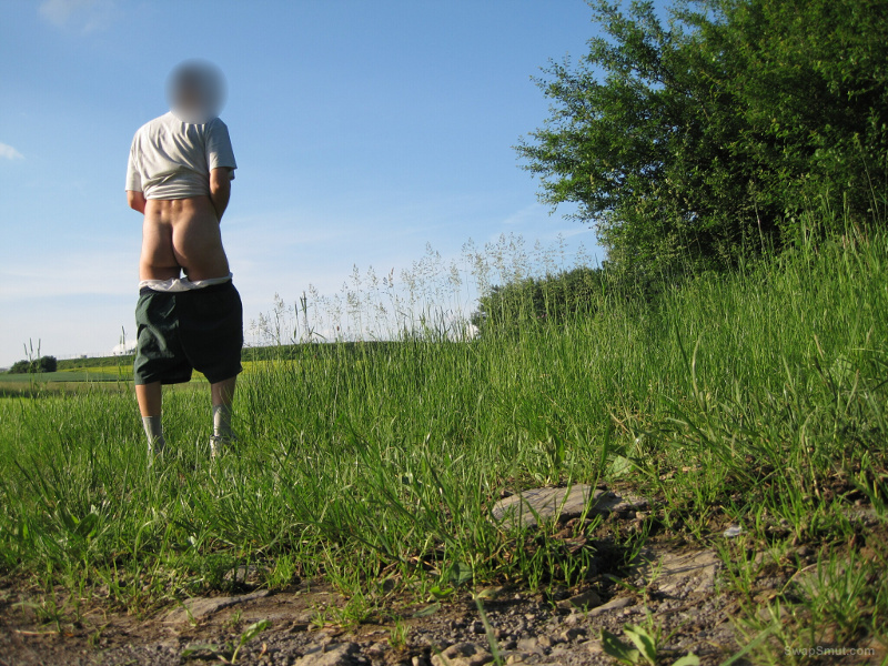 My naked butt outdoor and in the woods