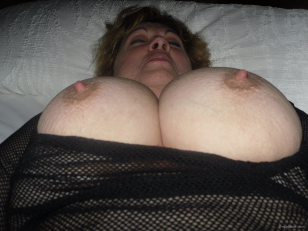 Mature Showing Off Her 36G Natural Tits and Hard Nipples