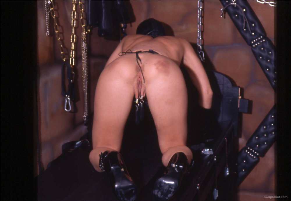 My slim slave is pictured for the guests of her master