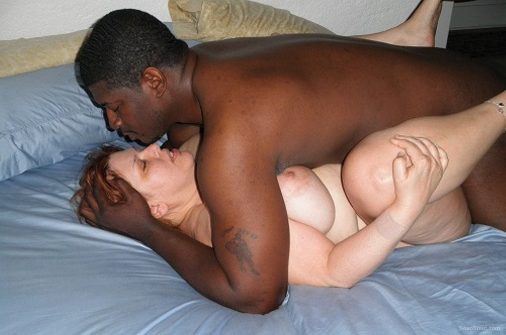 Busty slutty wife showing off her hot mature body and enjoying her black lover