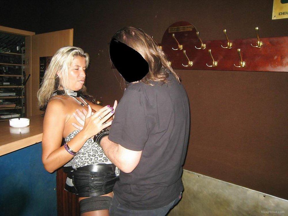 Blonde slut sex wife with strangers enjoying a group sex fuck