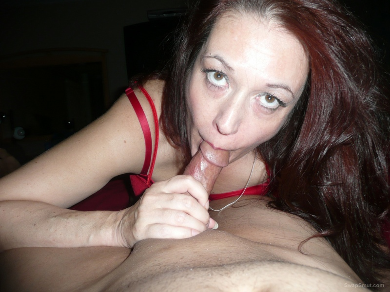 Horny wife sucking dick with passion, bringing it to cumshot ejaculation