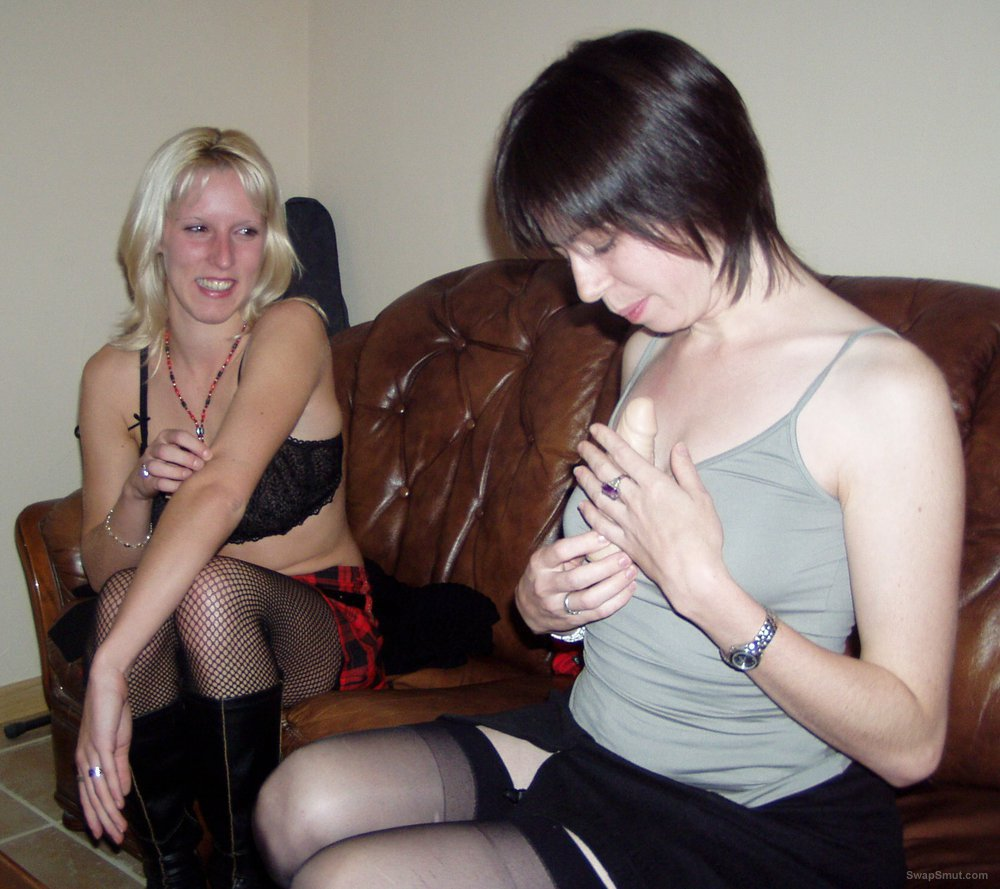 Bisexual wife and her friend posing and puting on a show