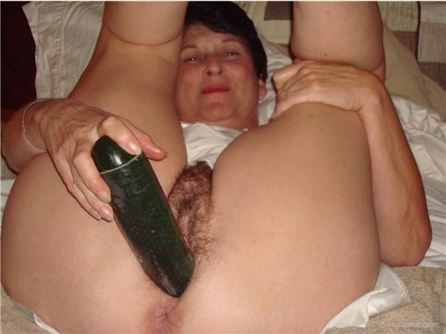 Gilf thats loves huge toys and cock using Vaseline to get it in