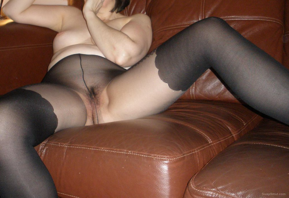 My wife posing in her pantyhose - let me know what you think of her