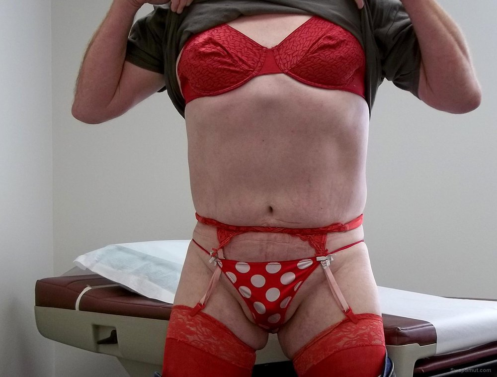 Recent visit to the doctors office flashing my lingerie
