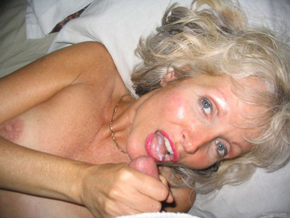 Cum swallowing grandmas