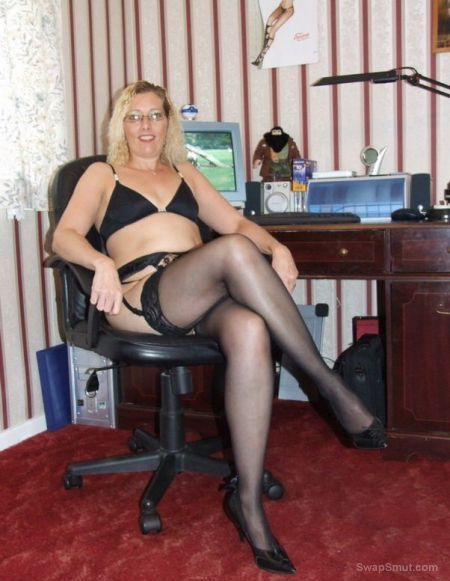 stocking British milf