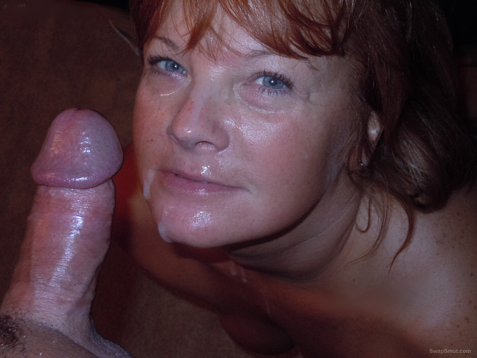 Cum on my moms face