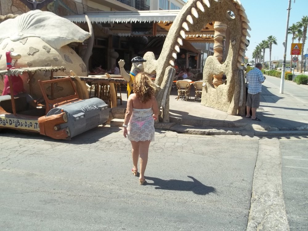 32 year old wife walking around in public while on holiday