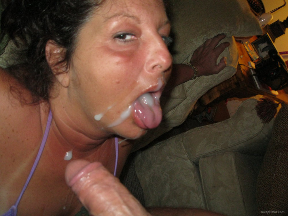 Facials on wives, Cum slurping whores gobbling sperm