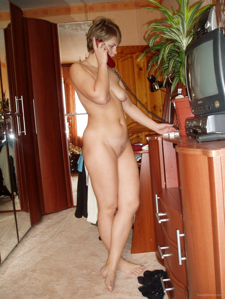 On the Phone and Does the Other Party Realize Oksana is Naked
