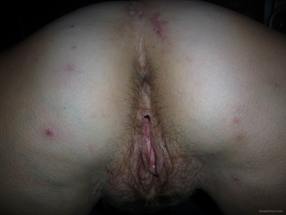 Dirty slut wife butt and pussy using anal beads before intercourse