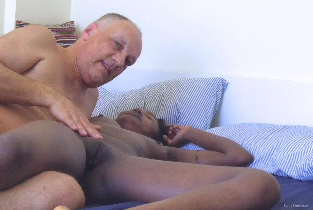Pornstar Cane showing interracial porn actions