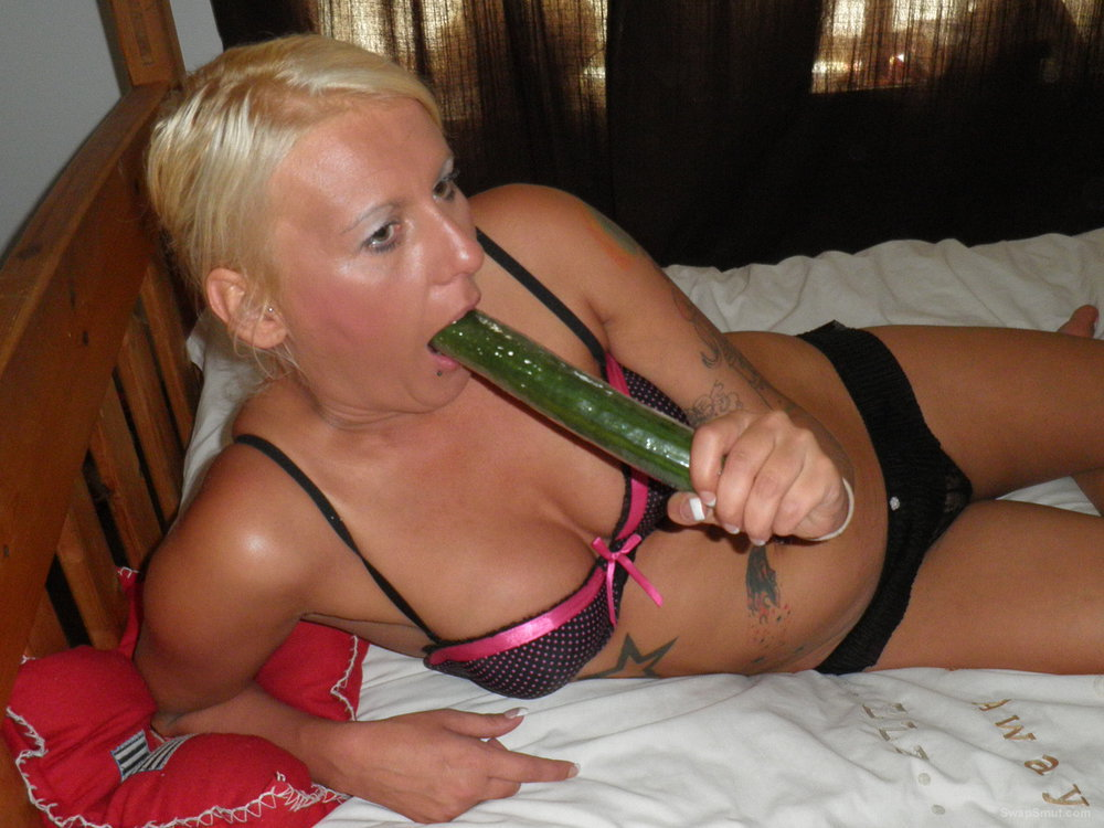 This girl from Manchester really loves cucumbers