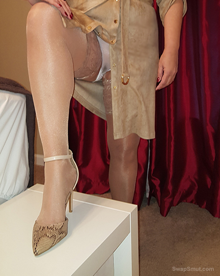 My lingerie, stockings, and heels by request of a friend with a very serious fetish