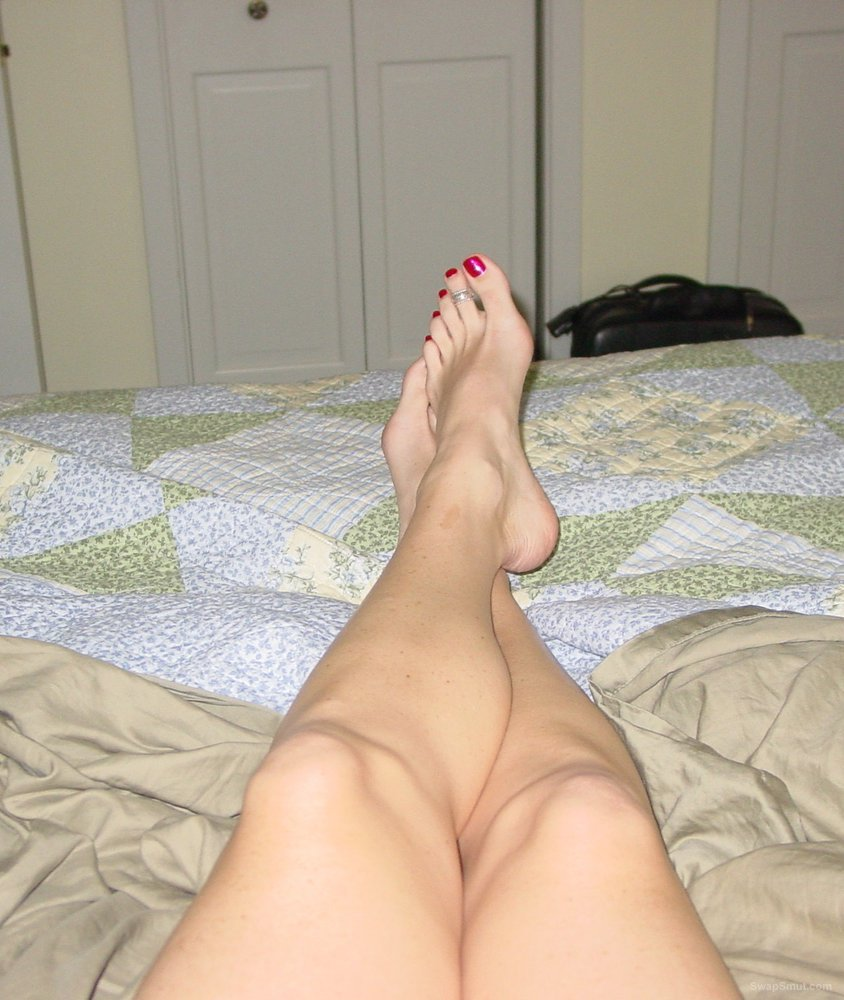 sexy wife showing us her sexy toes and big toys