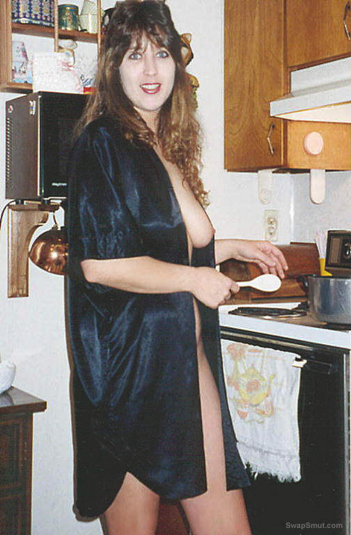 Crystal doing housework for your entertainment and enjoyment
