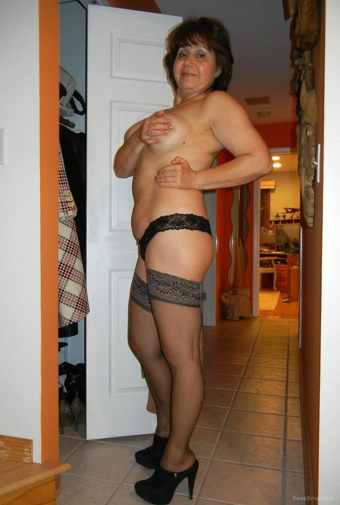 Sexy milf showing off her hot body naked and in revealing clothes