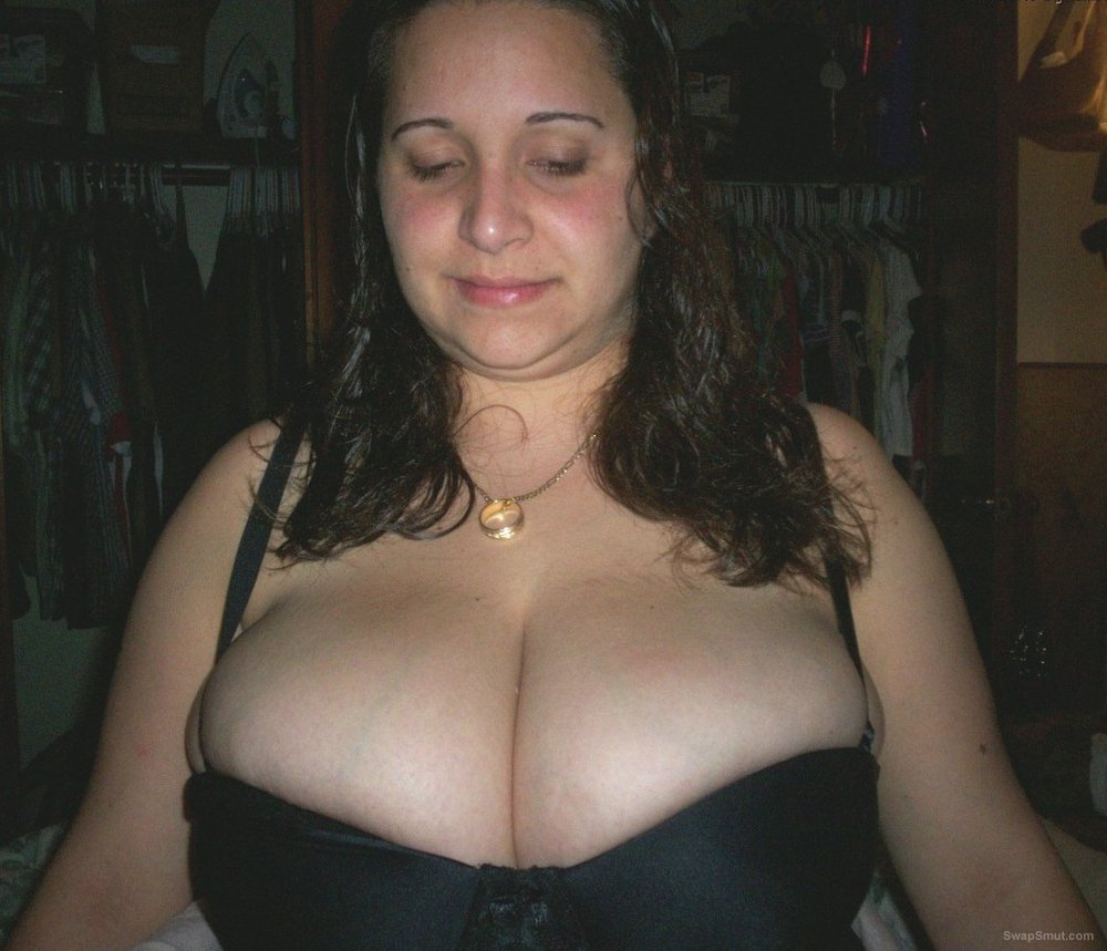 A chubby couple sharing fun times with us she has very large breasts