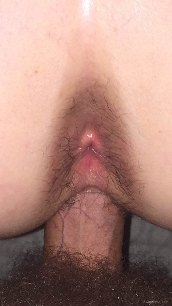 Slut wife butt and pussy gaping wide open for you to look and fuck