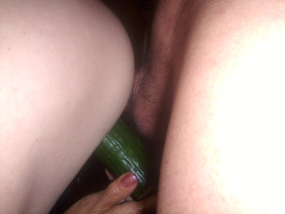 Cucumber in the ass