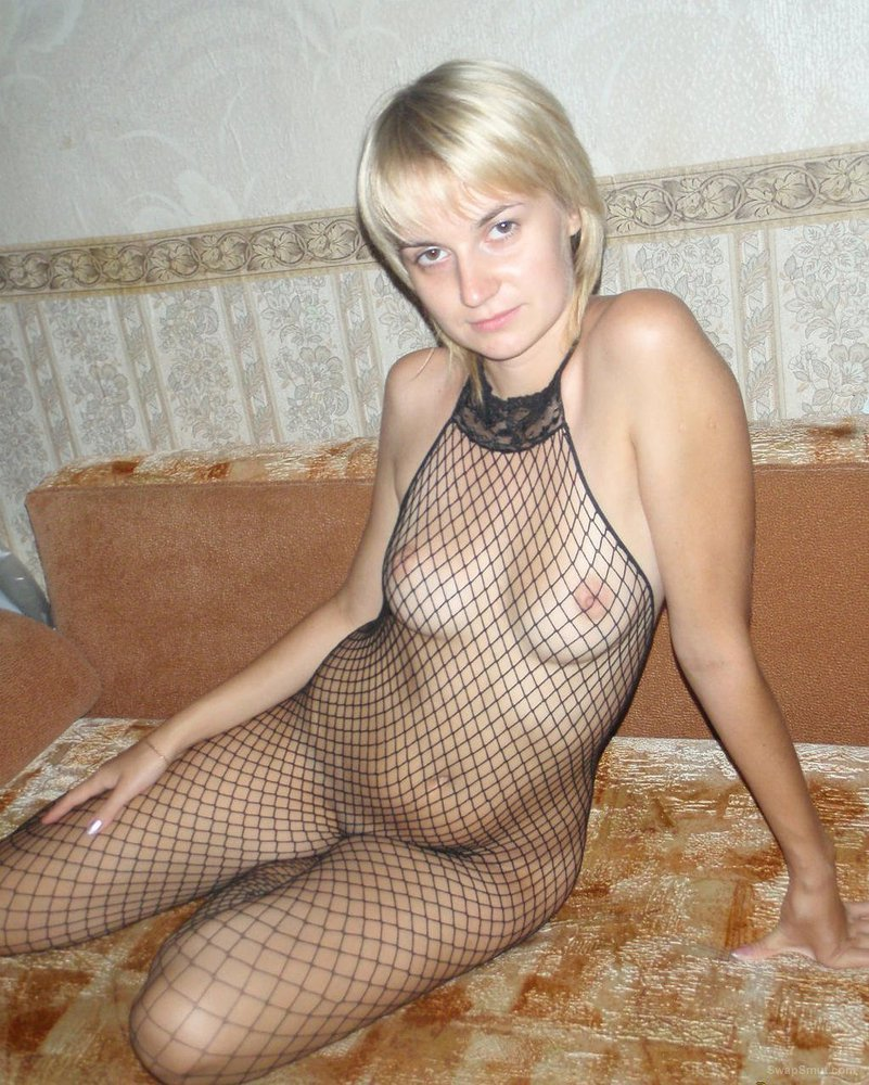 Nastya1 sexy blonde wife getting nude at the beach