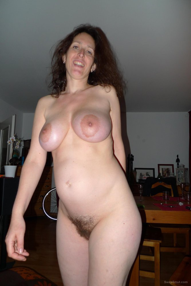 Mature woman wearing see through clothes