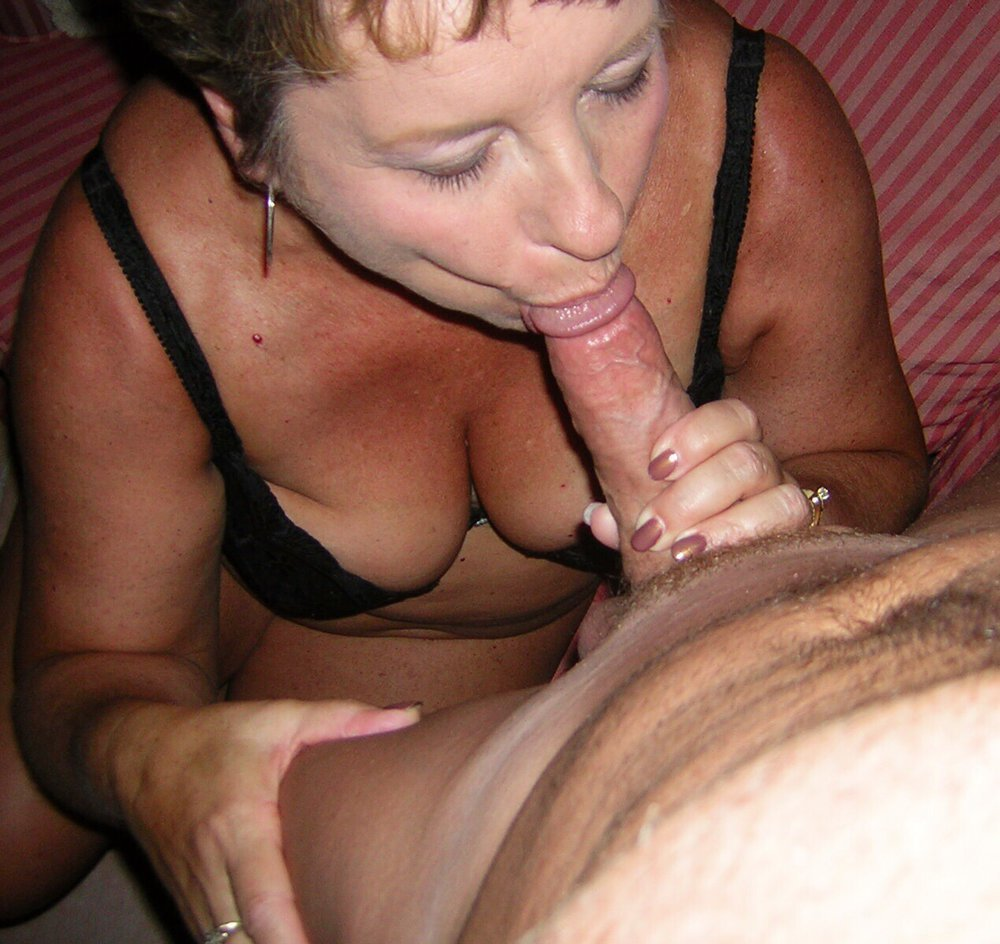 Big tit granny sucking and fucking young stud