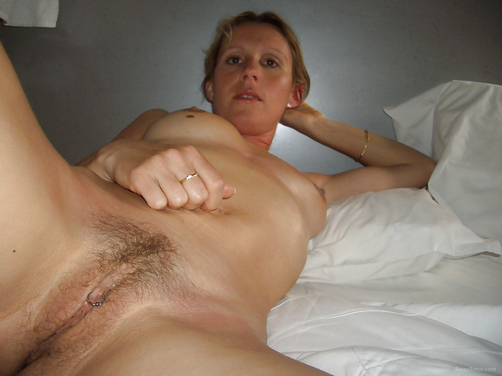 Pierced hairy pussy amateur on vacation