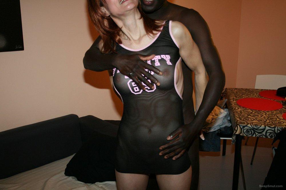 Black man taking my wife bareback,cumming in mouth