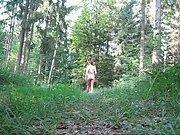 Walking around naked in the forest male amateur nude in public