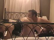Wife wearing leather stiletto boots sex tape fuck with lover