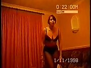 Wife Stripping off her clothes and dancing around the living room