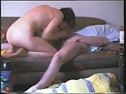 In home with wife sex tape on sofa screwing real homegrown fuck