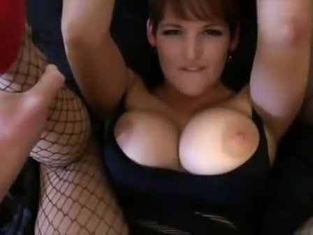 Brunette with glasses and hairy pussy masturbation