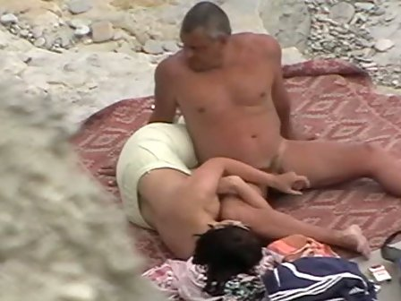 Hand job at beach naked
