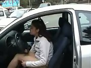 Wife exposing herself in a public carpark