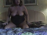 Homemade interracial white mom takes on a BBC extra marital sex