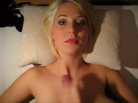 Short Hair Blonde Handjob