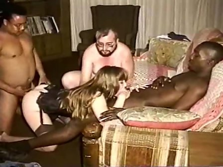Homemade Orgy Wife Wanting To Fulfil Her Fantasy Having Interracial Group Sex