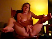 Wife Masturbating With Big Dong Has Huge Orgasm