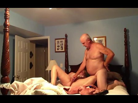 Married couple with man sex video