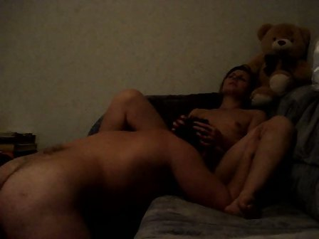 Real amateur orgasm from 3 toys at once