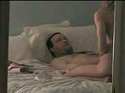 Hidden camera wife sex in bedroom with husband enjoying a suck