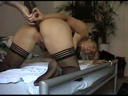 Homemade stockings anal