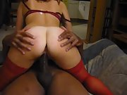 Gorgeous MILF with a sexy body bounces on a BBC