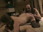 37 year old hot Texas mom wife in MFM 3some amateur porn movie