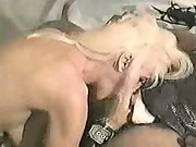 Blonde milf slut at a black cock party