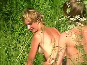 Young couple caught on hidden camera having sex in a nature reserve